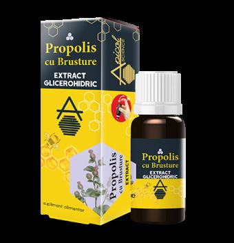 Propolis cu brusture extract glicerohidric