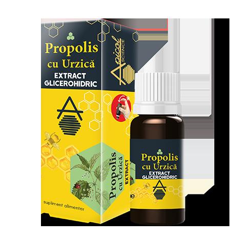 Propolis cu urzica extract glicerohidric